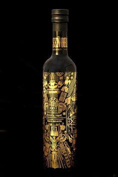 Cool Black and Black Bottle