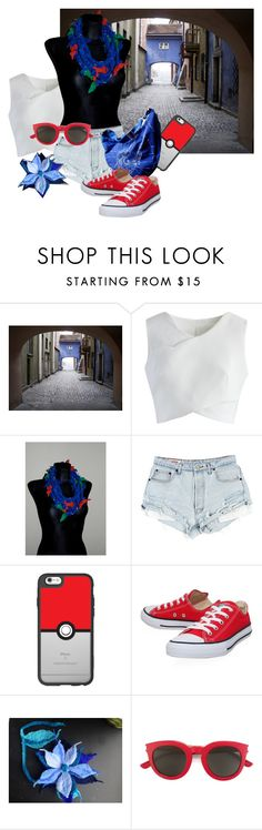 """""""Pokemon go,go"""" by aboutcraftss ❤ liked on Polyvore featuring WALL, Chicwish, Casetify, Converse and Yves Saint Laurent"""
