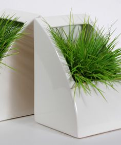 Planter Bookends by STAK Ceramics | Showing at Handmade Arcade | Pittsburgh, PA (Dec. 8) | handmadearcade.com