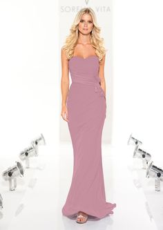 I'm not a fan of long bridesmaid dresses but this a very pretty dress. Maybe maid of honor. ....