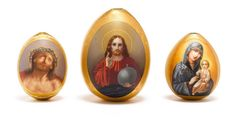 Antique Russian porcelain Easter Eggs - easter-eggs Photo