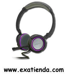 Ya disponible AURICULAR + MIC APPROX HIFI GRIS/PURPURA                    (por sólo 14.18 € IVA incluído):   -Auriculares Stereo Hi-Fi Púrpura.  • Con 2 conectores jack stereo de 3,5 mm para la conexión a su PC/ portátil • Cable de 2 metros • Regulador de volumen • Micrófono desmontable -Auriculares. •Impedancia: 32 and#937;; •Sensibilidad: 108dB, +/- 3dB; •Respuesta de Frecuencia: 15Hz a 20KHz  -Micrófono. •Impedancia: 10 Kand#937;and#937;; •Sensibilidad: -
