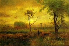 George Inness (American, 1825-1894), Sunrise, 1887. Oil on canvas, 76.2 x 114.9 cm.