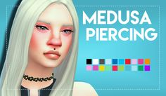 Unisex (Big) Medusa PiercingFinally updated this mesh to fit most of my sims mouths a bit better, not suitable for all sims - but I did try to make it fit to other shapes too - feel free to edit this for personal use to your own tastes.  Smaller...