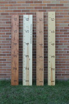 Wooden Growth Chart - Growth Ruler - Kid Decor - Old School Ruler by RebeccaBloomArts on Etsy https://www.etsy.com/listing/234004709/wooden-growth-chart-growth-ruler-kid