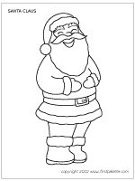 Large Santa Claus coloring page