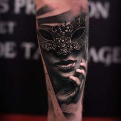 venetian mask tattoos - Google Search