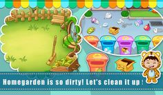 Autumn is coming!Sweep up leaves in the backyard!  https://play.google.com/store/apps/details?id=com.sencatech.game.livingroom
