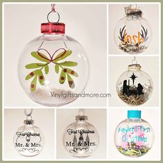 Floating Ornaments - Vinyl Crafts