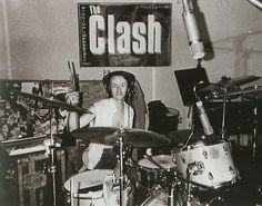Topper Headon during the recording of Combat Rock, 1981