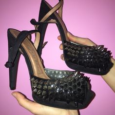 Jeffrey Campbell Spiked Heels Worn once  great condition Jeffrey Campbell Shoes Heels