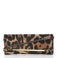 One of our faves for fall...the Alexis Clutch from the #brahmin Spot on Leopard Collection #MyBrahminStyle