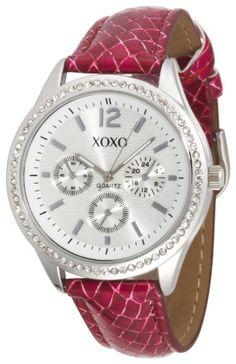 XOXO Women's XO3180 Silver Dial Fuchsia Snake « Holiday Adds