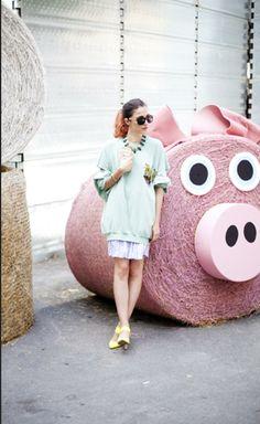 Looks y street style inspiradoras de la it girl italiana Eleonora Casiri, chica Grazia.