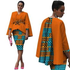 African Clothing Set Dress Suit For Women Tops Jacket+ Print Skirt Source by Short African Dresses, Latest African Fashion Dresses, African Print Dresses, African Print Fashion, Africa Fashion, African Dress Designs, Ankara Dress Styles, Ankara Tops, African Clothes