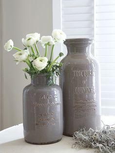 Retro Ceramic Vase - Dark Stone