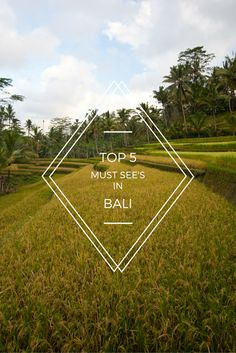 Top 5 Absolute Must See's in Bali via @goawesomplaces