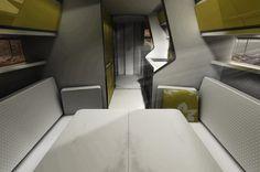 Odorico Pordenone expandable trailer by Jakub Novak - the bedroom