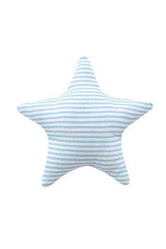 Rassel - gestreift blau  - Material: 100 % Baumwolle - Maße: 10 cm