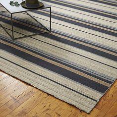 The Hill-Side workwear blanket stripe rug  | CB2
