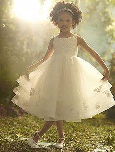Disney's Fairy Tale Weddings by Alfred Angelo Cinderella flower girl dress, Style 704 #wedding #flower #girl