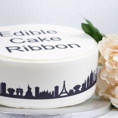 Sprinkles /& Toppers Ltd Mermaid Scales Edible Icing Cake Ribbon Side Strips