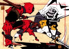 Deadpool+VS+Taskmaster+by+soliton.deviantart.com+on+@DeviantArt