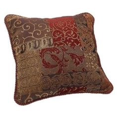 Croscill Galleria Square Polyester Throw Pillow