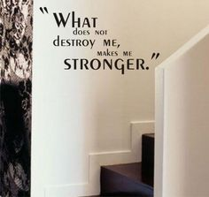 What Does Not Destroy Me Makes me Stronger<3