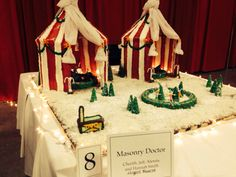 This winter circus theme was great! Gingerbread houses from the 2013 #Christmas Festival's #gingerbread house competition. #Boston Seaport World Trade Center.