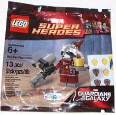 Lego Marvel Super Heroes Exclusive Rocket Raccoon Polybag Set BNIP 13pc RARE #LEGO
