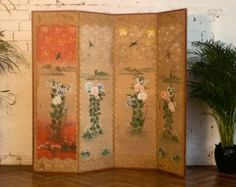 paravent bois et bambou plein 4 pans id es v randa pinterest. Black Bedroom Furniture Sets. Home Design Ideas