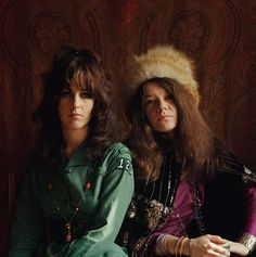 Grace Slick and Janis Joplin
