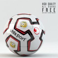 Desde el repositorio de modelos 3D Turbosquid llega esta pelota (balón) de fútbol modelada por el usuario Alshak, disponible en formato .OBJ, .FBX, .LWO (Lightwave) y .LXO (Modo).