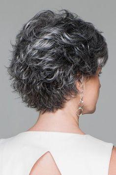 Conviction by Eva Gabor Wigs - Easy Hair Short Grey Hair, Short Hair With Layers, Short Hair Cuts, Pixie Cuts, Short Pixie, Gabor Wigs, Curly Hair Styles, Natural Hair Styles, Natural Hair Regimen