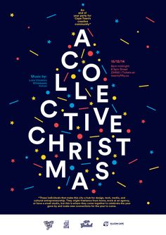christmas poster A Collective Christmas - An end of year party for Cape Towns creative community