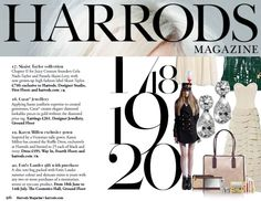 Cocktails anyone? Round & Pear CARAT* Cocktail earrings feature in  next months Harrods magazine, Top 20 Must Have Pieces! July/Aug issue.