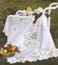 Скатерть , ткань с вышивкой ришелье и филейным вязанием . Обсуждение на LiveInternet - Российский Сервис Онлайн-Дневников