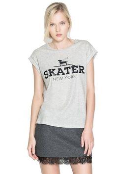 plus Gray Cape Sleeve Skater New York T-shirt | Fashion4you - Clothing on ArtFire