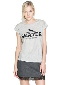 plus Gray Cape Sleeve Skater New York T-shirt | Fashion4you - Clothing on ArtFire