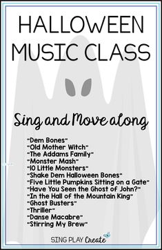Are you ready for the action in your Halloween music class? These Halloween music class activities will not only help you stay sane during the Halloween week, but they also provide some great and creative opportunities to assess skills and teach concepts! #singplaycreate #elementarymusichalloweenlessons #musicedhalloween   #halloweenmusicactivities #musicedhalloweensongs #musicedhalloween #halloweenmusiclessons #halloweensongsandactivities #halloweenmusic #halloweenmusicandmovement