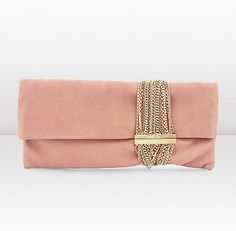 Jimmy Choo - clutch bag in blush w/chain detail - 2013