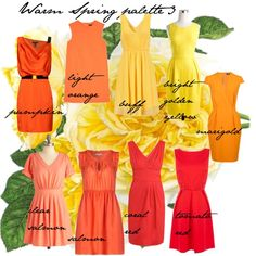 Warm Spring palette 3, created by carolgrant on Polyvore