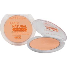 Pó Compacto Super Natural UV Block FPS 30 01 Claro Natural - Maybelline