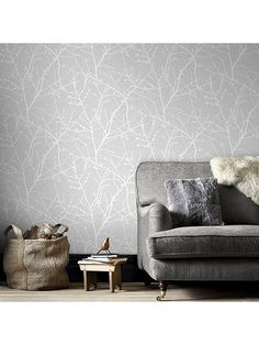 Graham & Brown offers a wide range of home wallpaper and wall coverings sure to make an impression in any room. Browse your favorite patterns and buy one today! Grey Wallpaper Designs, Grey Pattern Wallpaper, Grey And White Wallpaper, Home Wallpaper, Textured Wallpaper, Wallpaper Roll, Gray Wallpaper, Botanical Wallpaper, Wallpaper Online