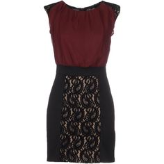 Why Me? Short Dress ($100) ❤ liked on Polyvore featuring dresses, maroon, zip dress, mini dress, zipper mini dress, pocket dress and maroon dress
