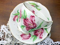 Your place to buy and sell all things handmade Gladstone, China Tea Cups, Mug Cup, Day Use, Teacup, Bone China, Cup And Saucer, Coffee Cups, Cottage