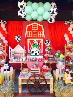 Wild One Birthday Party, Baby Boy 1st Birthday, Baby Boy Birthday, 1st Boy Birthday, 4th Birthday Parties, 1st Birthdays, Barnyard Party, Pig Party, Farm Party