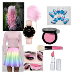 """Cotton Candy Crush"" by evansts ❤ liked on Polyvore featuring Cotton Candy, Bobbi Brown Cosmetics and HoneyBee Gardens"