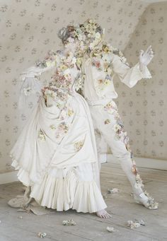 Dancing flower people for Italian Vogue. Photography by Tim Walker